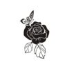 Rose Vector, Butterfly Vector