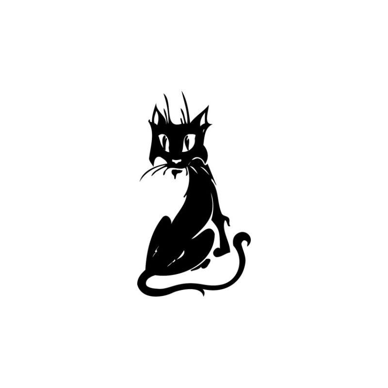 Cat Vector, Cat Vectors, Cats Vectors, Animals Vectors, Cat Silhouette, Pussycat Vector, Pussy Vector, Amazing Cat Vector (9)