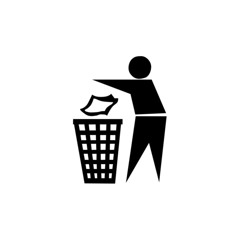 Symbol Of Trash Vector, Symbols Vectors, Trash Vector Vectors, Shapes Vectors, Abstract Vectors (1)