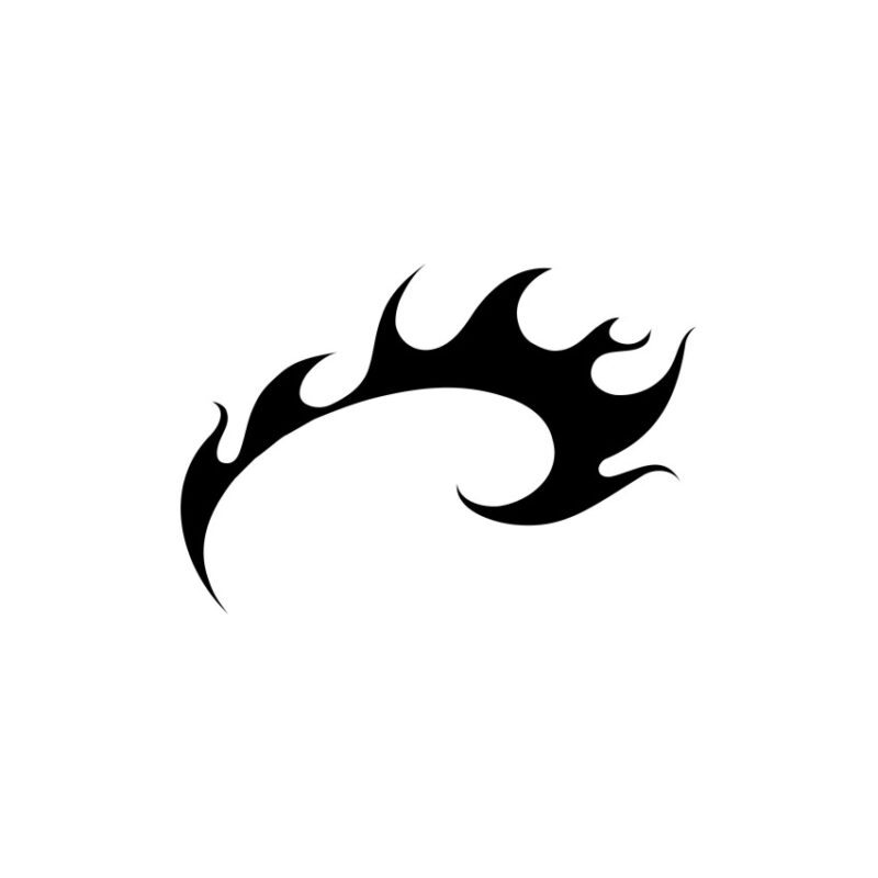 Symbol Of Tuning Flames Vector, Decorative Lines Vector, Symbols Vectors, Tuning Flames Vector, Decorative Lines Vector Fire Vectors